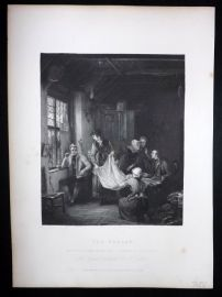 After David Wilkie C1870 Antique Print. The Pedlar